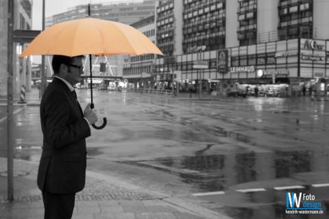 Regenschirm, gelb